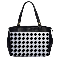 Square Diagonal Pattern Seamless Office Handbags