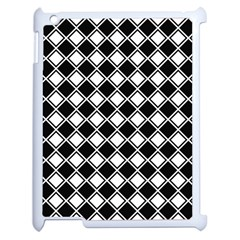 Square Diagonal Pattern Seamless Apple Ipad 2 Case (white)