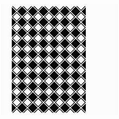 Square Diagonal Pattern Seamless Small Garden Flag (two Sides)