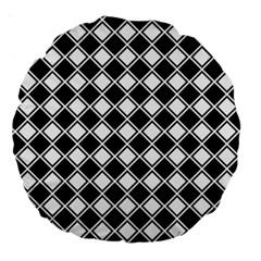 Square Diagonal Pattern Seamless Large 18  Premium Round Cushions