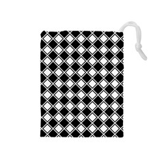 Square Diagonal Pattern Seamless Drawstring Pouches (medium)