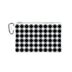 Square Diagonal Pattern Seamless Canvas Cosmetic Bag (s)