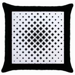 Square Pattern Monochrome Throw Pillow Case (black)
