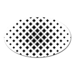 Square Pattern Monochrome Oval Magnet