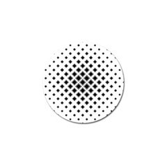 Square Pattern Monochrome Golf Ball Marker (4 Pack)