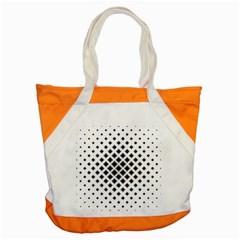 Square Pattern Monochrome Accent Tote Bag