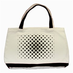 Square Pattern Monochrome Basic Tote Bag (two Sides)