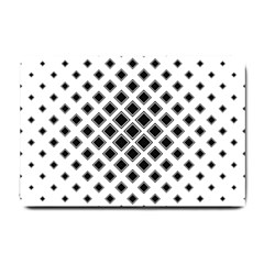 Square Pattern Monochrome Small Doormat