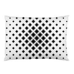 Square Pattern Monochrome Pillow Case