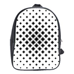 Square Pattern Monochrome School Bag (large)