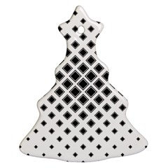 Square Pattern Monochrome Ornament (christmas Tree)