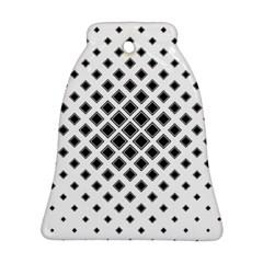 Square Pattern Monochrome Ornament (bell)