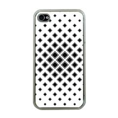 Square Pattern Monochrome Apple Iphone 4 Case (clear)