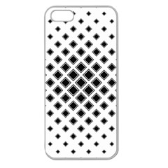 Square Pattern Monochrome Apple Seamless Iphone 5 Case (clear)