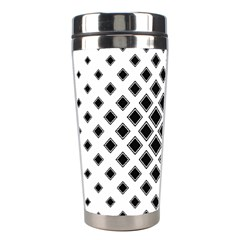 Square Pattern Monochrome Stainless Steel Travel Tumblers