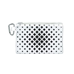 Square Pattern Monochrome Canvas Cosmetic Bag (s)