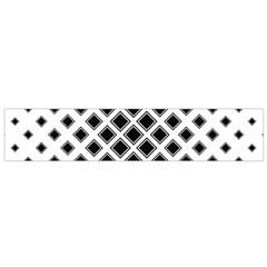 Square Pattern Monochrome Small Flano Scarf