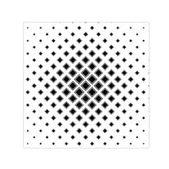 Square Pattern Monochrome Small Satin Scarf (square)