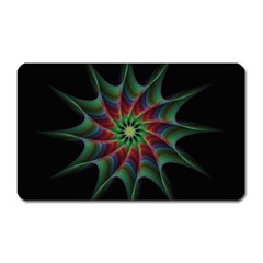 Star Abstract Burst Starburst Magnet (rectangular)