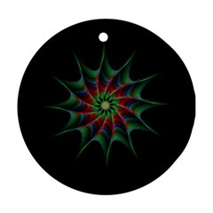 Star Abstract Burst Starburst Round Ornament (two Sides)