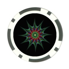 Star Abstract Burst Starburst Poker Chip Card Guard (10 Pack)
