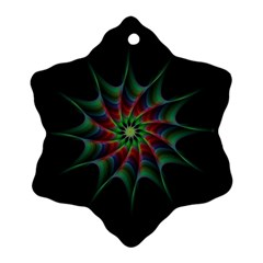 Star Abstract Burst Starburst Snowflake Ornament (two Sides)