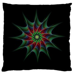 Star Abstract Burst Starburst Large Cushion Case (one Side)
