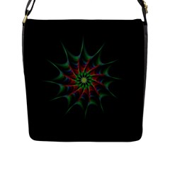 Star Abstract Burst Starburst Flap Messenger Bag (l)