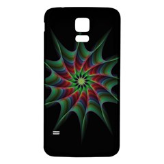 Star Abstract Burst Starburst Samsung Galaxy S5 Back Case (white)