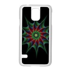 Star Abstract Burst Starburst Samsung Galaxy S5 Case (white)