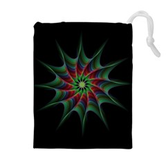 Star Abstract Burst Starburst Drawstring Pouches (extra Large)