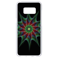 Star Abstract Burst Starburst Samsung Galaxy S8 White Seamless Case