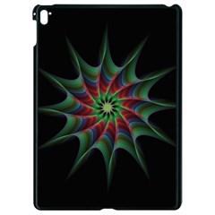 Star Abstract Burst Starburst Apple Ipad Pro 9 7   Black Seamless Case