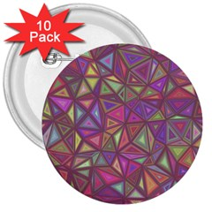Triangle Background Abstract 3  Buttons (10 Pack)