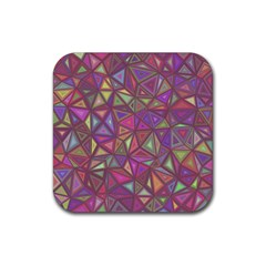 Triangle Background Abstract Rubber Square Coaster (4 Pack)
