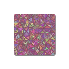 Triangle Background Abstract Square Magnet