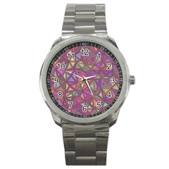 Triangle Background Abstract Sport Metal Watch