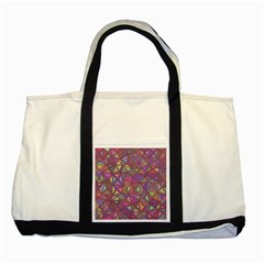 Triangle Background Abstract Two Tone Tote Bag