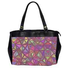 Triangle Background Abstract Office Handbags (2 Sides)