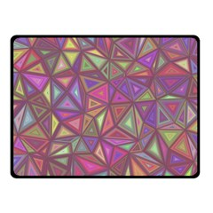 Triangle Background Abstract Fleece Blanket (small)
