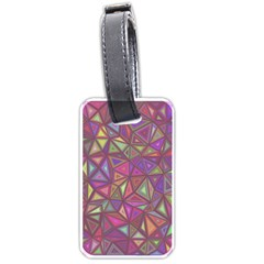 Triangle Background Abstract Luggage Tags (two Sides)