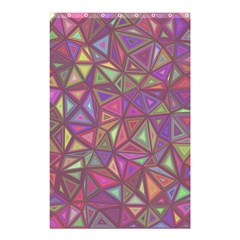 Triangle Background Abstract Shower Curtain 48  X 72  (small)