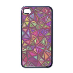 Triangle Background Abstract Apple Iphone 4 Case (black)