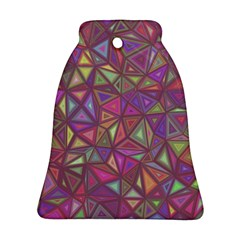 Triangle Background Abstract Bell Ornament (two Sides)