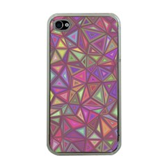 Triangle Background Abstract Apple Iphone 4 Case (clear)
