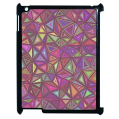 Triangle Background Abstract Apple Ipad 2 Case (black)