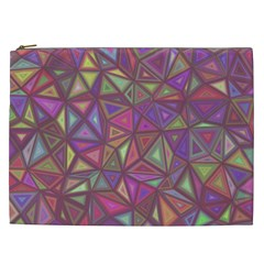 Triangle Background Abstract Cosmetic Bag (xxl)