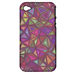 Triangle Background Abstract Apple Iphone 4/4s Hardshell Case (pc+silicone)