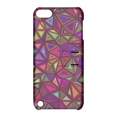 Triangle Background Abstract Apple Ipod Touch 5 Hardshell Case With Stand