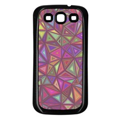 Triangle Background Abstract Samsung Galaxy S3 Back Case (black)